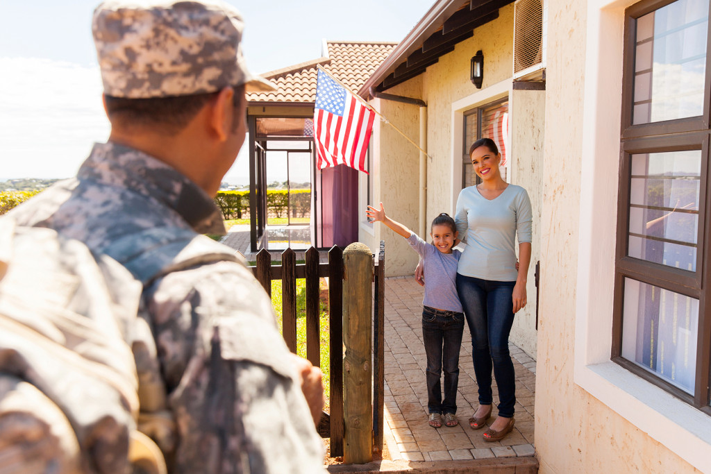Veteran returning home provided by VA Loans in DC